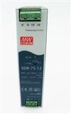正品SDR-75-12 6.3A高效率高功率PFC单路DIN导轨安装明纬开关电源