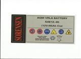 美国索润森蓄电池SAE12-65密封铅酸蓄电池规格