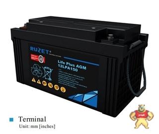 法国RUZET蓄电池12LPA150 路盛蓄电池12V150AH 质量保证直销