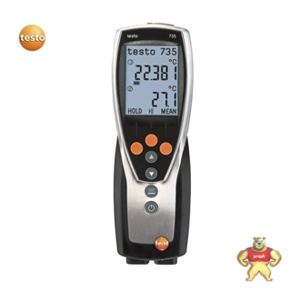 testo 735-1 德图testo735-1三通道温度仪PT100铂电阻温度计带报警探头