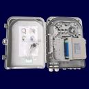 室外1分16光分路器箱分光箱光缆配线箱光纤分纤箱 ftth入户箱塑料