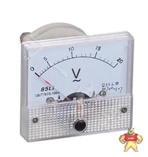 上海向一电器85L1指针安装式圆形开孔90℃伏特测量仪表分类