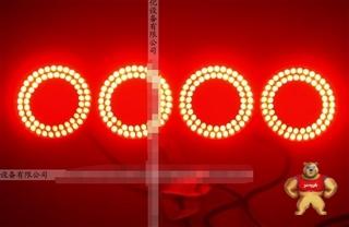 拆机原装CCS LDR2-50RD DC12V 红色LED直接照明环形光源