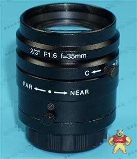 日本进口 2/3 F1.6 f=35mm 高分辨率 CCTV定焦工业镜头 9成新