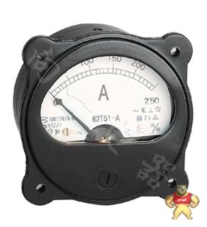 专业仪表62T51-A指针安装式圆形开孔90℃电流测量仪表维修