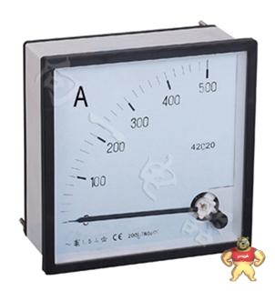 电力仪表厂家42C20-A指针安装式方形外形九十度安培计40mA