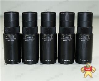 二手ø17mm 微型摄像机专用微距镜头 16mm定焦 1.6-2.5X连续变倍