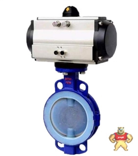 厂家专业生产D671F46气动衬氟蝶阀(图)质量优质低价批发
