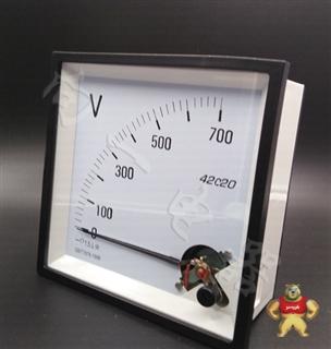 稳定可靠42C20-V指针安装式DC直角九十度电压计使用方法