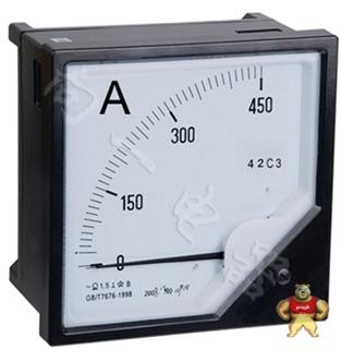 专业仪表42C3-A指针安装式直流直角九十度安培计1500A