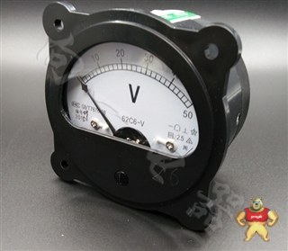 质保一年62C6-V指针安装式圆形面板九十度伏特测量仪表78尺寸