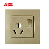 ABB 开关插座 由艺香槟金空调插座16A一开三孔插座AU22853-PGPG