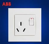 ABB 开关插座 由艺空调插座16A一开三孔带灯AU23653-WW
