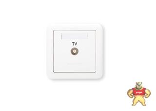 ABB 开关插座 德静一位电视插座有线TV插座AJ301