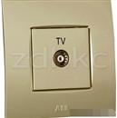 ABB 开关插座 由艺香槟金一位电视插座有线TV插座AU30144-PGPG