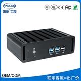 研凌BOX180-I5厂家直销定制无风扇工控电脑主机全铝机箱ITX主板