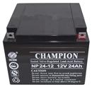 冠军蓄电池12V24AH 原装正品 冠军蓄电池NP24-12 质保三年 免维护