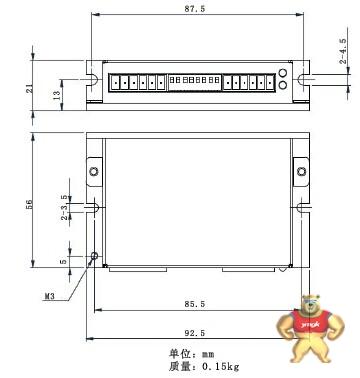 2a 输入电压12-48vdc 脉冲 方向/正负脉冲控制方式   16档细分可选