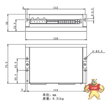 伺服系统  输入电压24-75vdc 脉冲 方向/正负脉冲控制方式   3款各8档