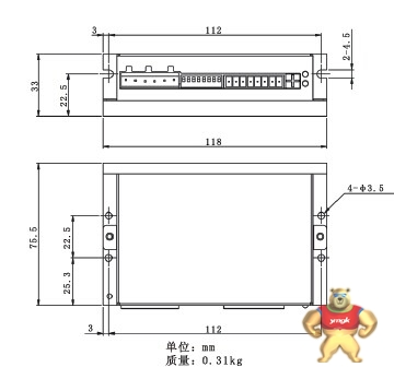 适配2a以上直流电源  y2ssr4-s2二相直流步进电机驱动器的马达参数