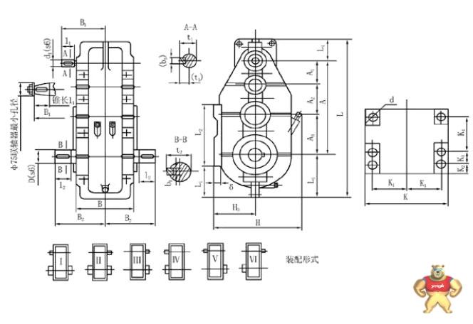 冶金电机正反转接线图