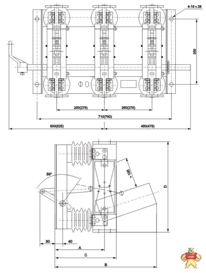 GN22-12(C)型隔离开关