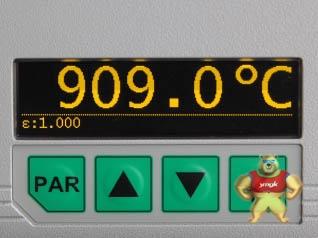 11系列光纤红外测温仪电子盒上按钮和显示器