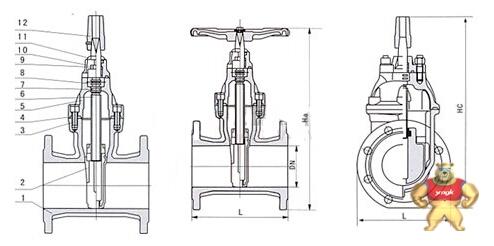 暗杆弹性座封闸阀结构图