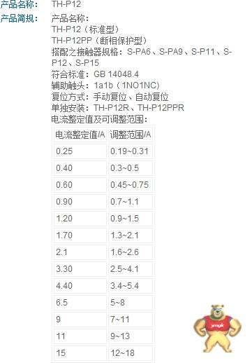(原装)士林热过载继电器    TH-P12E4.4A   3.4~5.4 士林,热过载继电器,TH-P12E4.4A